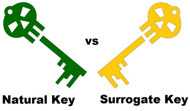 Natural Key vs Surrogate Key
